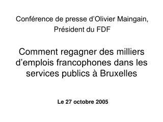 Comment regagner des milliers d'emplois francophones dans les services publics à Bruxelles