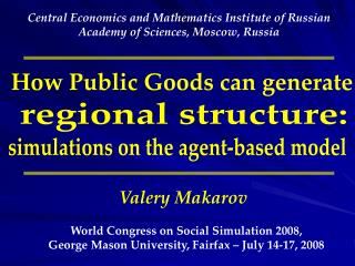 How Public Goods can generate