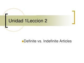 Unidad 1Leccion 2
