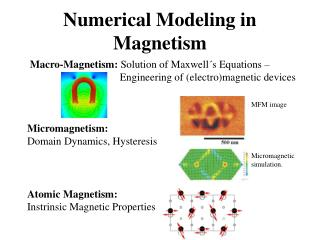 Numerical Modeling in Magnetism