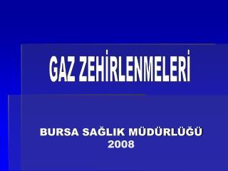 BURSA SAĞLIK MÜDÜRLÜĞÜ 2008