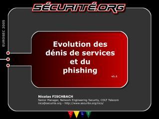 Evolution des d�nis de services et du phishing v1.1