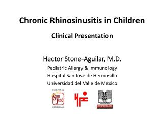Chronic Rhinosinusitis in Children