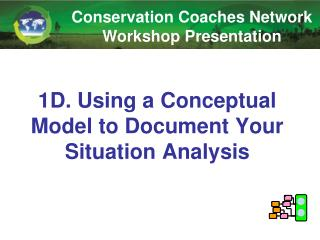 1D. Using a Conceptual Model to Document Your Situation Analysis