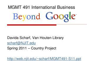 MGMT 491 International Business