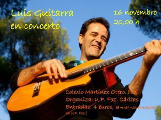 Luis Guitarra en concerto