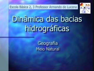 Dinâmica das bacias hidrográficas