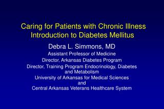 Caring for Patients with Chronic Illness Introduction to Diabetes Mellitus
