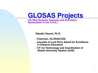 GLOSAS Projects (GLObal Systems Analysis and Simulation Association in the U.S.A.)