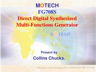 M O TECH FG708S  Direct Digital Synthesized  Multi-Functions Generator