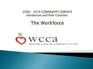 2009 – 2010 COMMUNITY SURVEYS Henderson and Polk Counties: The Workforce
