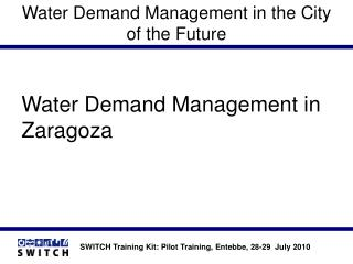 Water Demand Management in the City of the Future