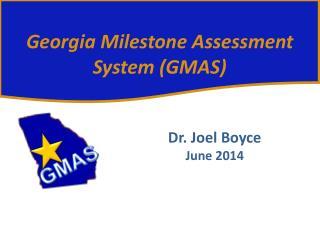Dr. Joel Boyce June 2014
