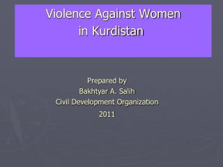 Violence Against Women in Kurdistan