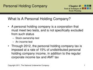 What Is A Personal Holding Company?