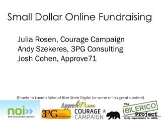 Small Dollar Online Fundraising