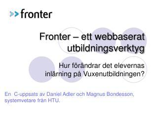 Fronter – ett webbaserat utbildningsverktyg