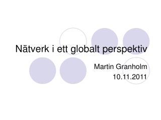 N�tverk i ett globalt perspektiv