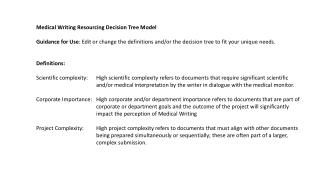 Medical Writing Resourcing Decision Tree Model