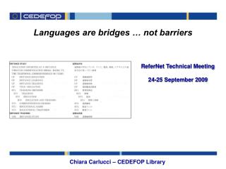 Languages are bridges … not barriers