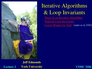 Iterative Algorithms  & Loop Invariants