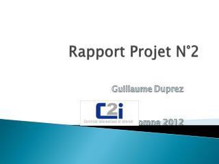 Rapport Projet N°2