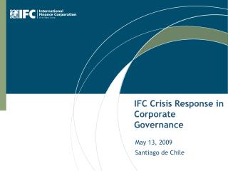 IFC Crisis Response in Corporate Governance