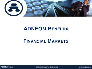 ADNEOM Benelux Financial Markets