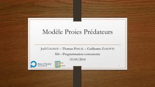 Modèle Proies Prédateurs