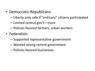 """Democratic-Republicans Liberty only safe if """"ordinary"""" citizens participated"""