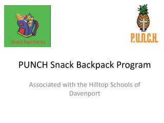 PUNCH Snack Backpack Program