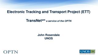 ETT/ TransNet sm Update