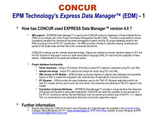 CONCUR EPM Technology's  Express Data Manager™  (EDM) - 1