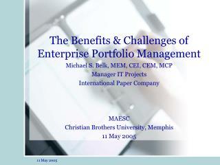 The Benefits & Challenges of Enterprise Portfolio Management