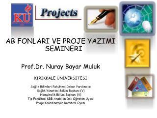 AB FONLARI VE PROJE YAZIMI SEMİNERİ Prof.Dr. Nuray Bayar Muluk KIRIKKALE ÜNİVERSİTESİ