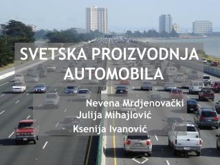 SVETSKA PROIZVODNJA AUTOMOBILA