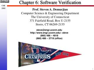 Chapter 6: Software Verification
