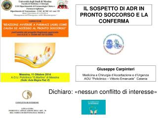 Giuseppe Carpinteri Medicina e Chirurgia d'Accettazione e d'Urgenza