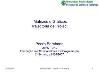 Matrizes e Gráficos  Trajectória de Projéctil