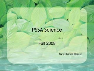 PSSA Science