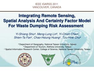 IEEE IGARSS 2011 VANCOUVER, CANADA
