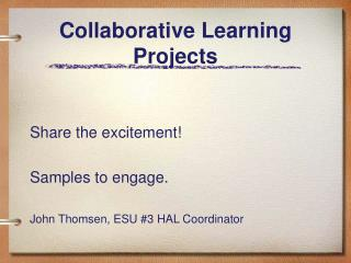 Collaborative Learning Projects