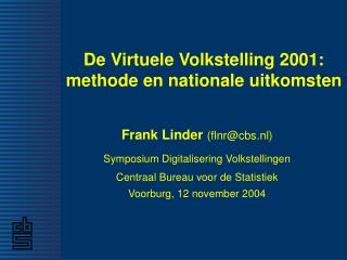 De Virtuele Volkstelling 2001: methode en nationale uitkomsten