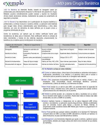 eMD  para  Cirugía Bariátrica