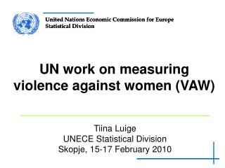 UN work on measuring violence against women (VAW)
