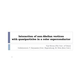 Interaction of non-Abelian vortices  with quasiparticles in a color superconductor
