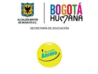 Convenio 2976 Secretaría de Educación Distrital Corporación Buscando Ánimo