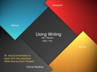 Using Writing