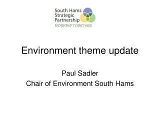 Environment theme update