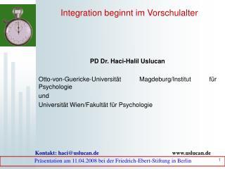 Integration beginnt im Vorschulalter
